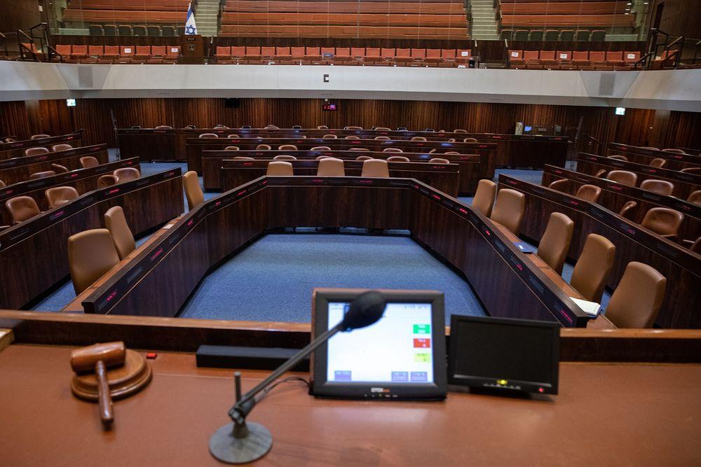 تحضيرات افتتاح البرلمان الإسرائيلي في القدس ، 5 أبريل 2021