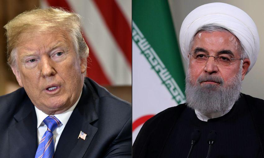 Le président américain Donald Trump / le président iranien Hassan Rohani