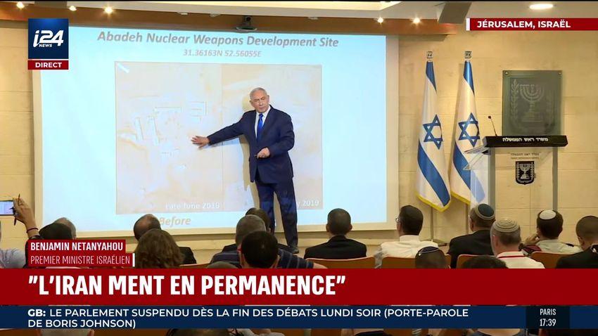 Allocution du Premier ministre Benyamin Netanyahou sur le nucléaire iranien, le 9 septembre 2019