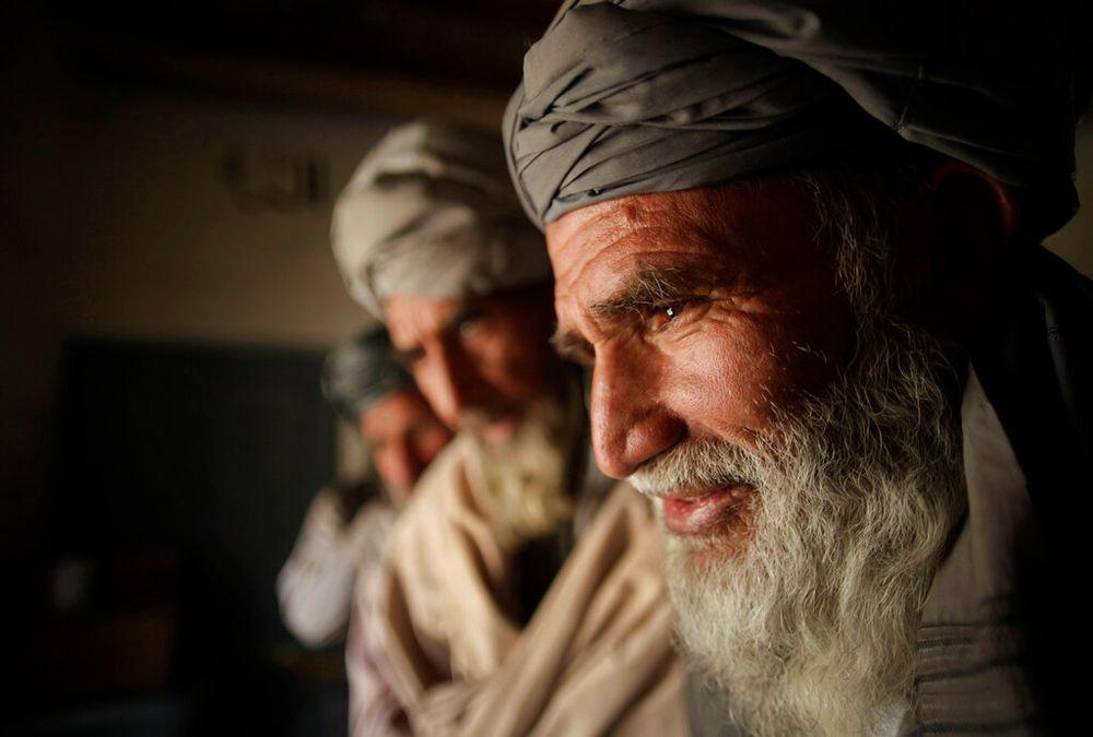 Des hommes pachtounes à Kaboul, en Afghanistan, le 18 septembre 2010.