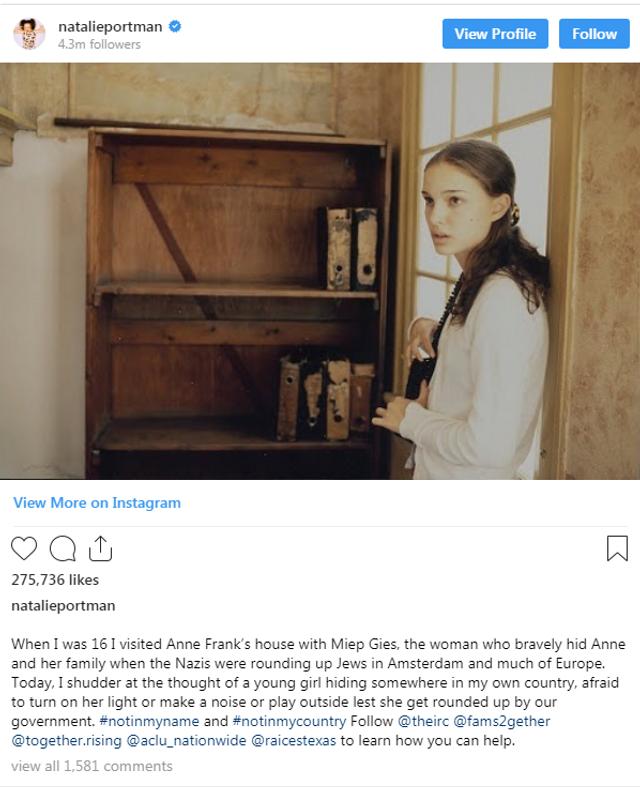 i24NEWS - Natalie Portman evokes Anne Frank in social media
