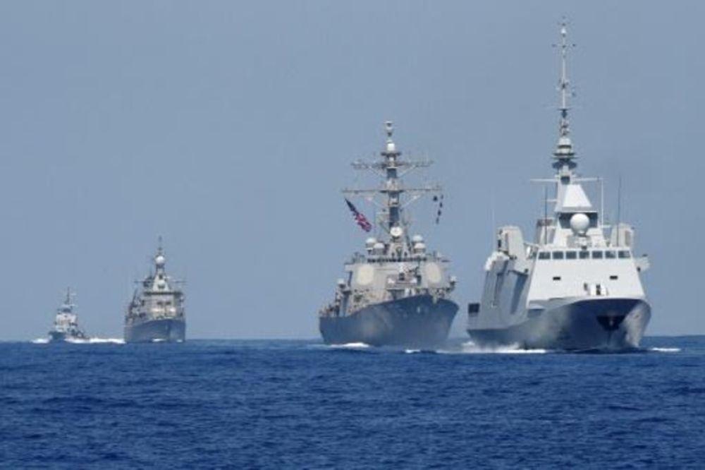 مناورات بحرية اسرائيلية واميركية وفرنسية ويونانية في البحر الأبيض المتوسط