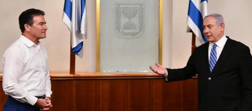 Le Premier ministre Benyamin Netanyahou rencontre le chef du Mossad Yossi Cohen, le 25 mai 2020