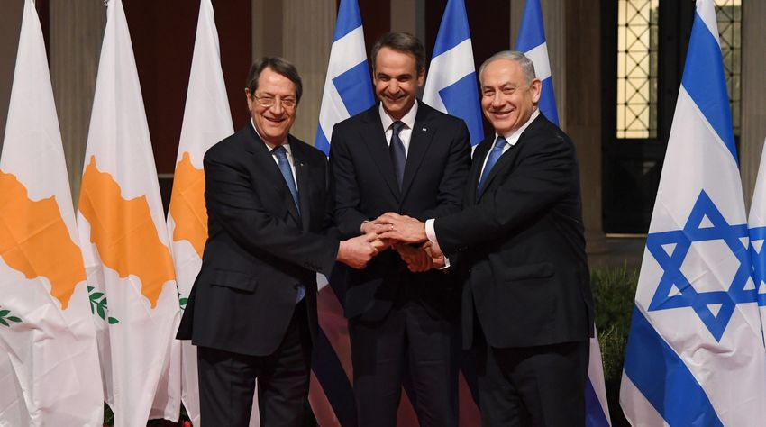 Image result for anastasiades mitsotakis y Netanyahu cumbre""
