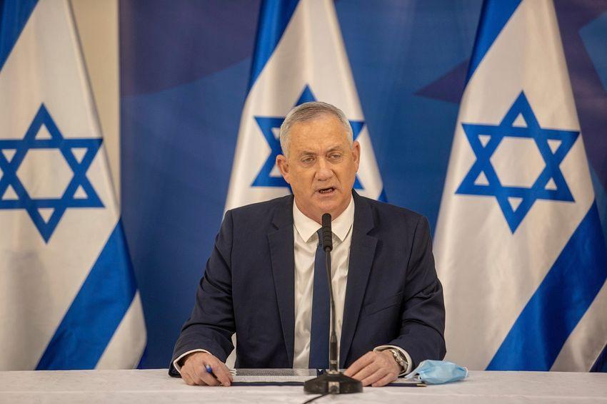Illustration - Le ministre de la Défense Benny Gantz lors d'un discours à Tel-Aviv, le 27 juillet 2020.