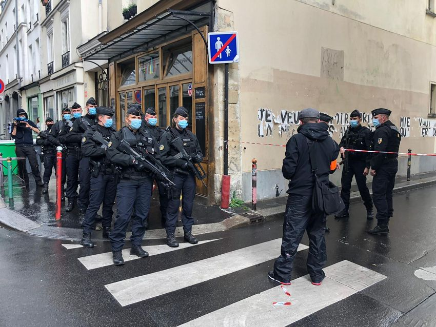 Attaque contre des employés de l'agence Première ligne à Paris, le 25.09.20