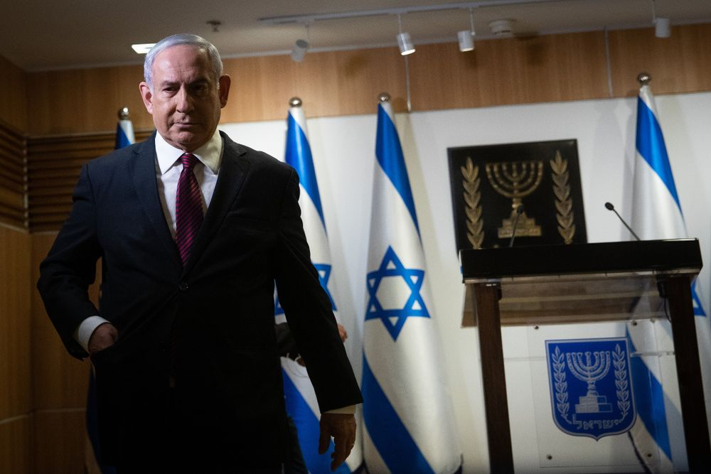 Le Premier ministre israélien Benyamin Netanyahou au Parlement israélien à Jérusalem le 22 décembre 2020