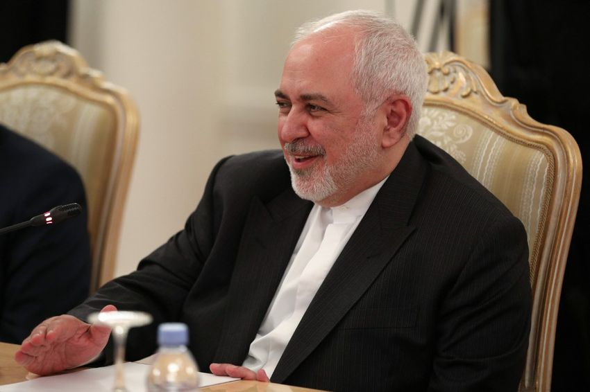 FILE - Iranian Foreign Minister Mohammad Javad Zarif attends a meeting with his Russian counterpart in Moscow on June 16, 2020.