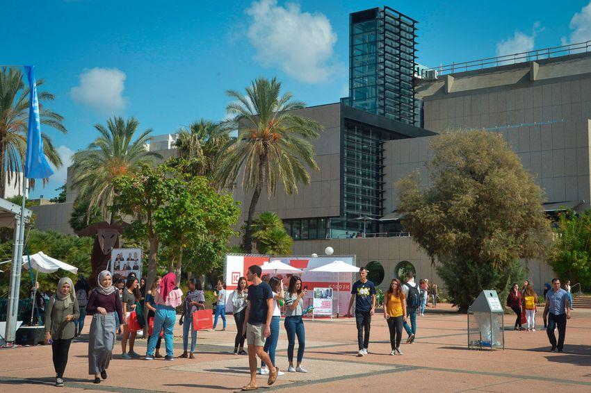 Alunos vistos na Universidade de Tel Aviv no primeiro dia do novo ano acadêmico, 14 de outubro de 2018.