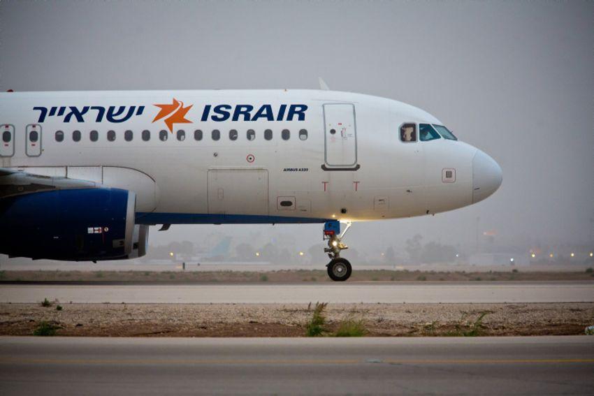 طائرة اسرائيلية تابعة لشركة يسرائير تقلع من مطار بن غوريون