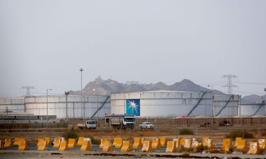 Storage tanks are seen at the North Jiddah bulk plant, an Aramco oil facility, in Jiddah, Saudi Arabia, Sunday, Sept. 15, 2019.
