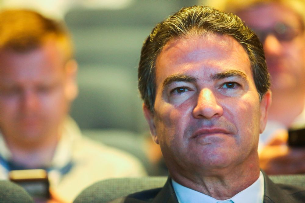 Head of the Mossad Yossi Cohen at a Cyber conference at the Tel Aviv University on June 24, 2019.