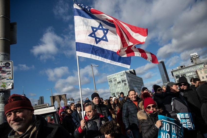 Illustration - Manifestations à New York contre la montée de l'antisémitisme aux Etats-Unis, le 5 janvier 2020.