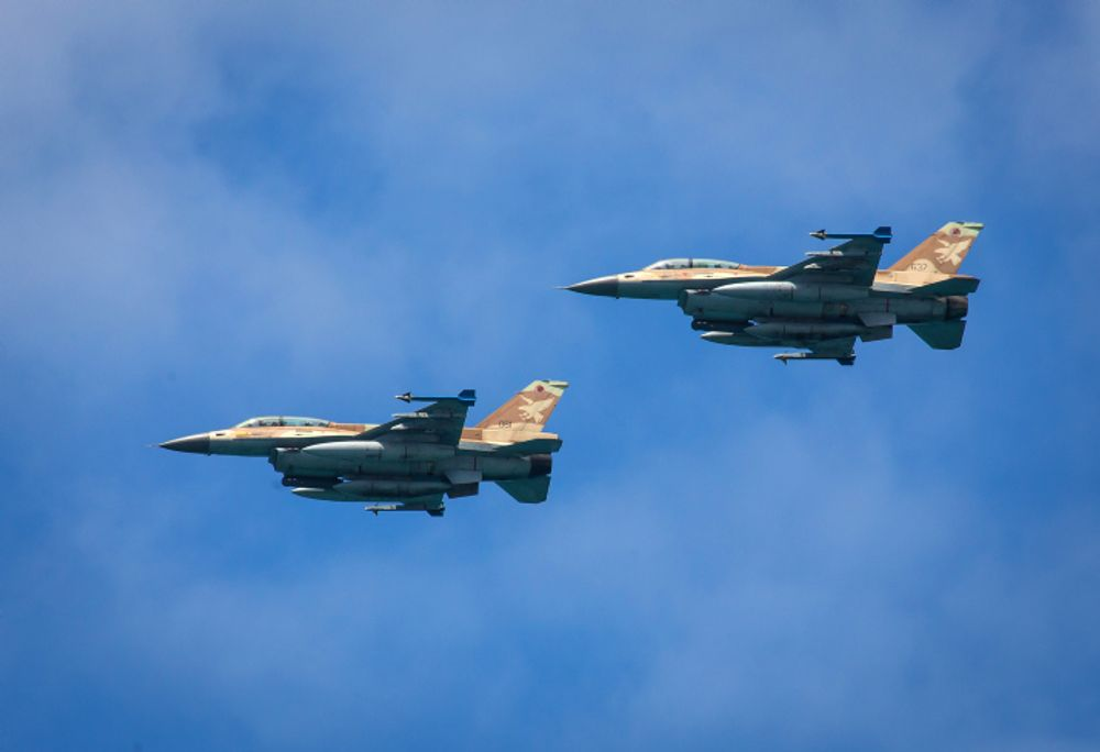 Illustration of the F-16 Israeli Air Force planes. May 9, 2019.