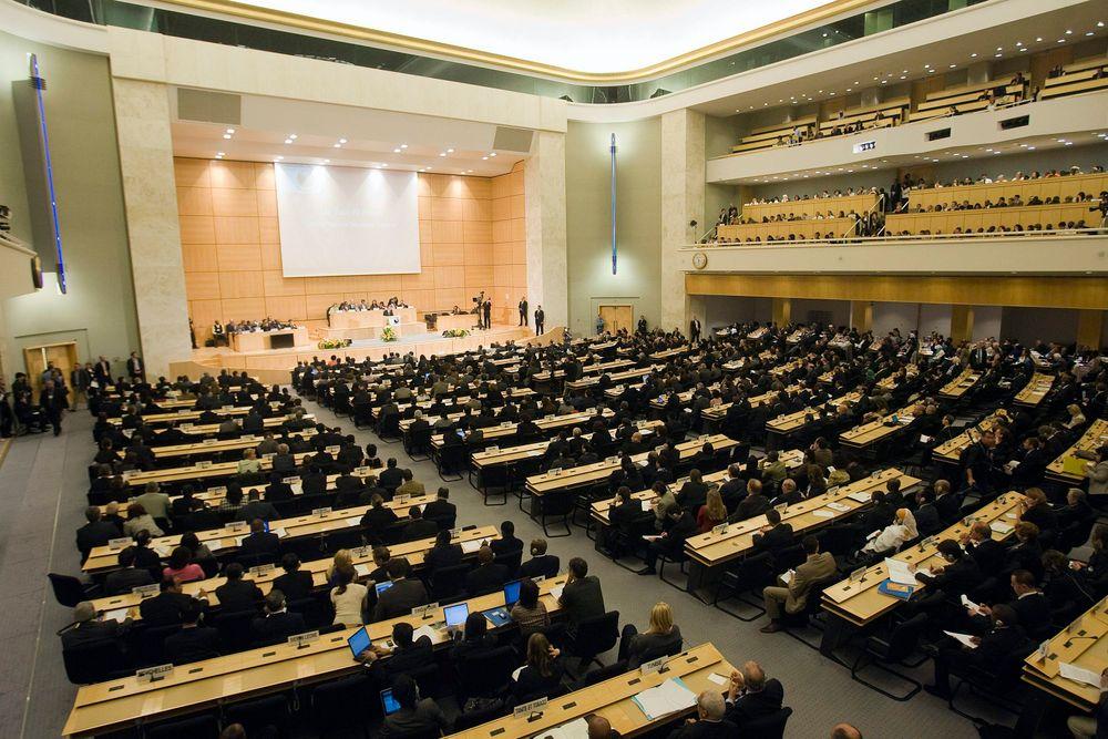 افتتاح مؤتمر ديربان (ديربان 2) في المقر الأوروبي للأمم المتحدة في جنيف ، سويسرا ، 20 أبريل 2009