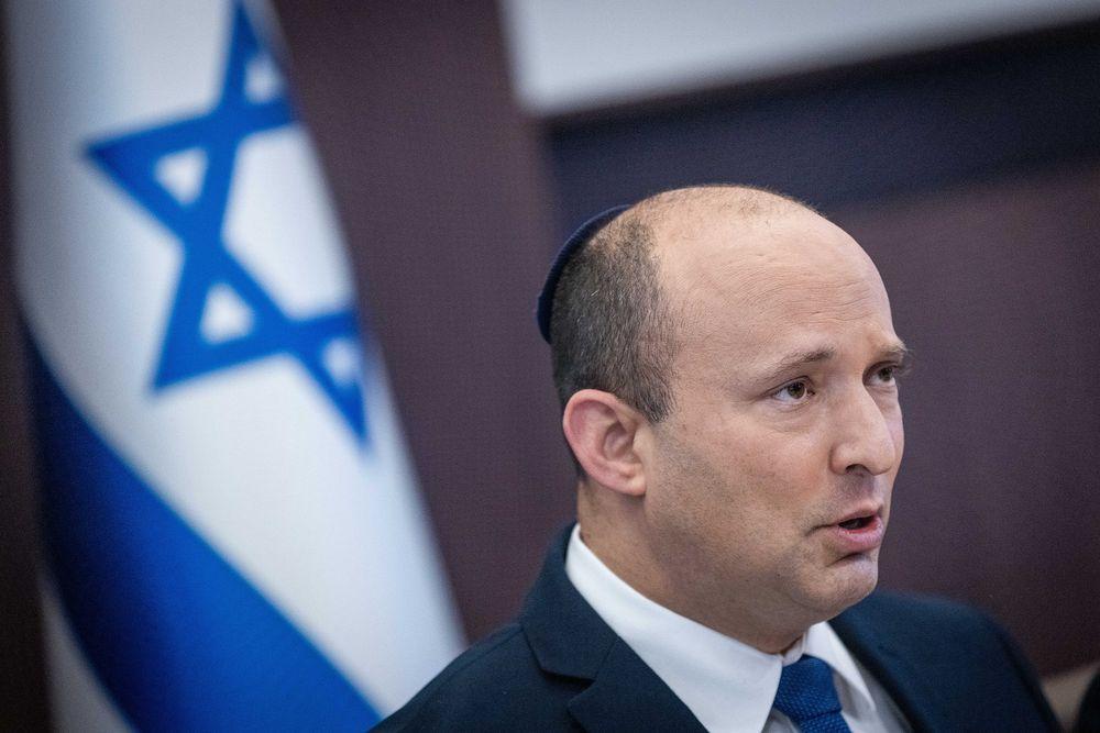 Le Premier ministre israélien Naftali Bennett lors d'une réunion du cabinet à Jérusalem le 5 septembre 2021