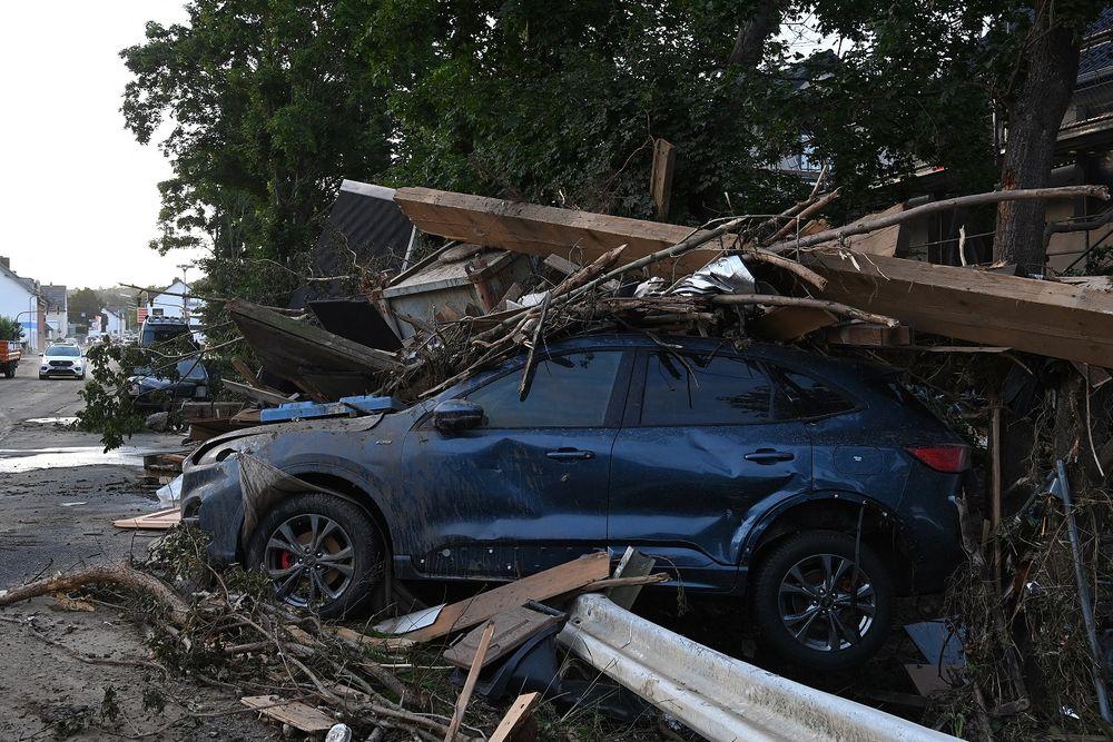 Des inondations dévastatrices à Bad Neuenahr-Ahrweiler, dans l'ouest de l'Allemagne, le 17 juillet 2021
