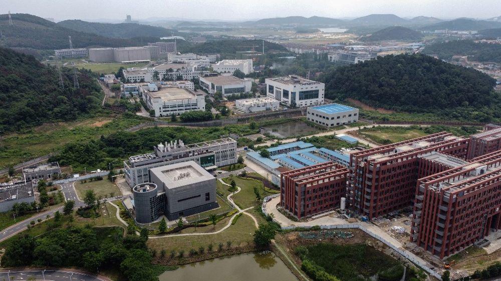 Le laboratoire P4 (centre L) sur le campus de l'Institut de virologie de Wuhan, dans la province centrale chinoise du Hubei, le 27 mai 2020