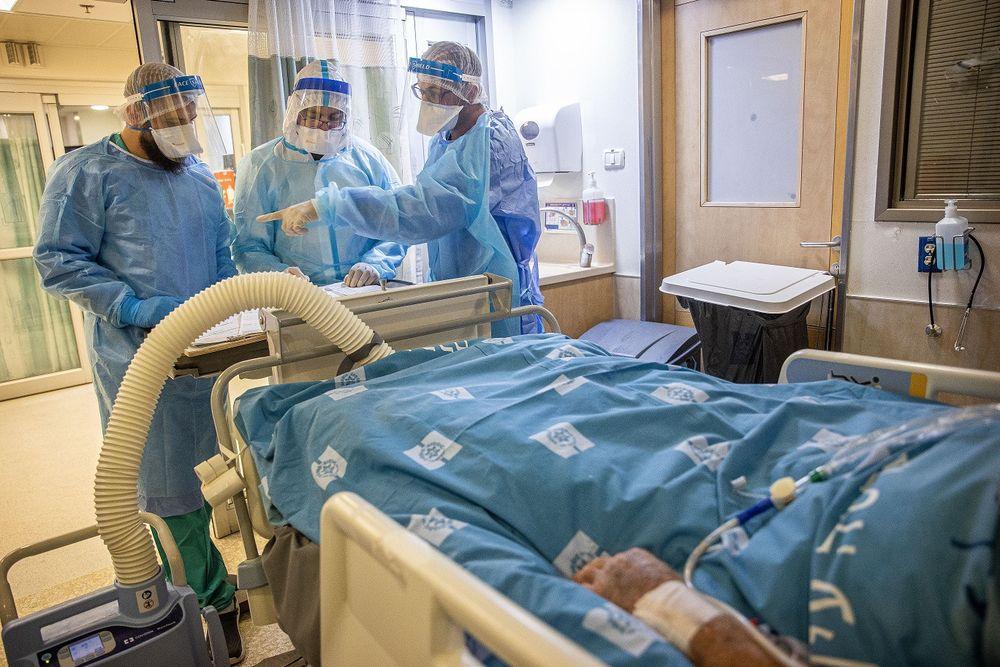 Une unité Covid au centre médical Hadassah Ein Kerem à Jérusalem le 25 août 2021
