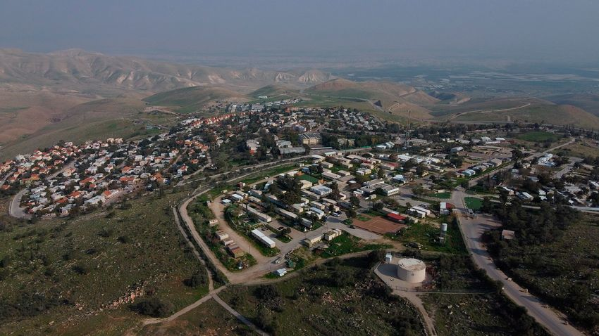FILE - A view of the West Bank settlement of Ma'ale Efraim on the hills of the Jordan Valley, on Feb. 18, 2020